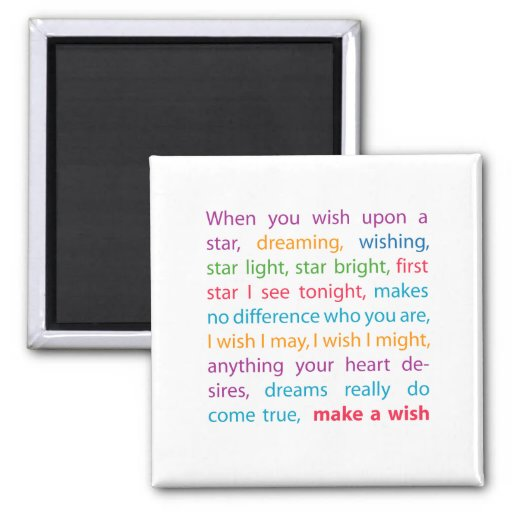 Make a Wish Magnet