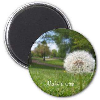 Make a wish on a dandelion refrigerator magnet