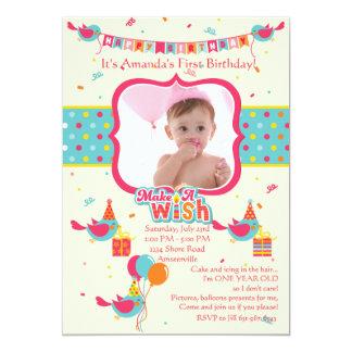 Make a Wish Photo Birthday Party Invitation