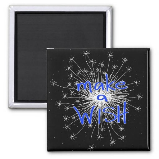 Make a Wish Square Magnet