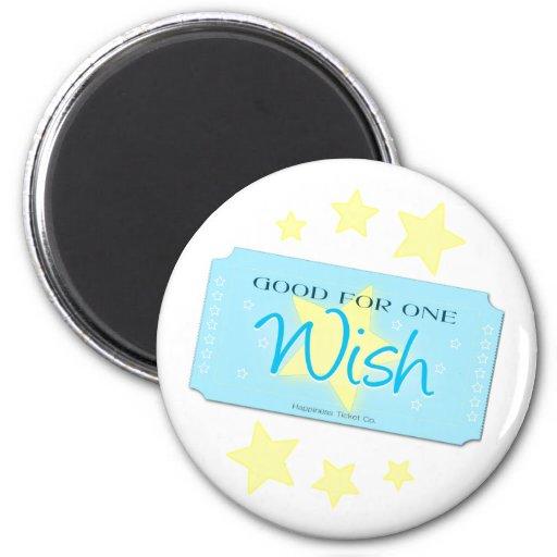 Make a Wish Ticket Fridge Magnets
