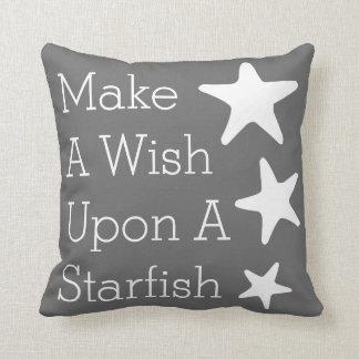 Make A Wish Upon A Starfish Throw Cushions