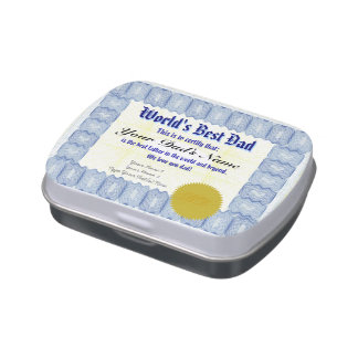 Make a World's Best Dad Certificate Jelly Belly Tin