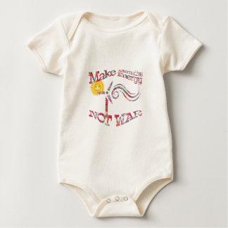 Make Alternative Energy Not War Floral Design Baby Bodysuit