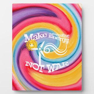 Make Alternative Energy Not War Tie Dye Plaque