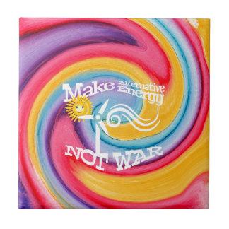 Make Alternative Energy Not War Tie Dye Tile
