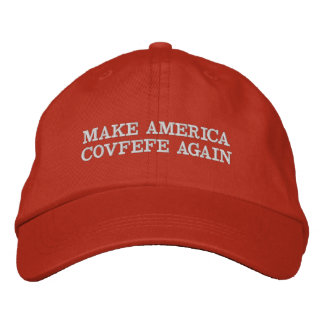 MAKE AMERICA COVFEFE AGAIN EMBROIDERED HAT