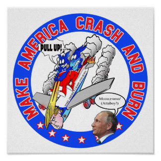 Make America Crash & Burn Poster