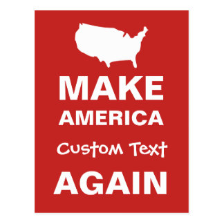 Make America Custom DIY Text Again Protest Parody Postcard
