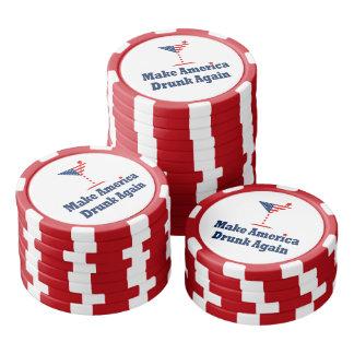 MAKE AMERICA DRUNK AGAIN  A patriotic election par Poker Chips Set