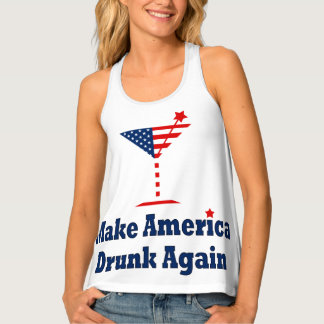 MAKE AMERICA DRUNK AGAIN SINGLET
