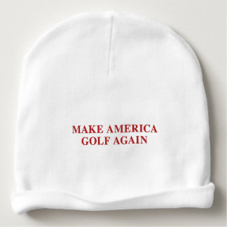 Make America Golf Again Baby Beanie