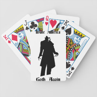 make america goth again bicycle playing cards