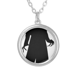 make america goth again silver plated necklace