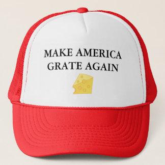 MAKE AMERICA GRATE AGAIN TRUCKER HAT