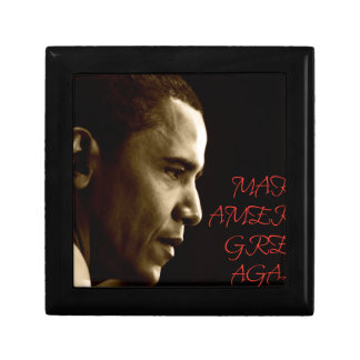 MAKE AMERICA GREAT AGAIN OBAMA SMALL SQUARE GIFT BOX