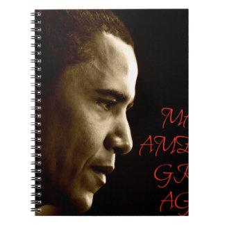 MAKE AMERICA GREAT AGAIN OBAMA SPIRAL NOTEBOOK