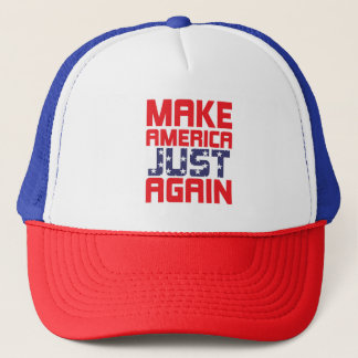 Make America Just Again protest hat