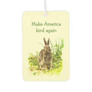 Make America Kind Again Bunny Rabbit Air Freshener