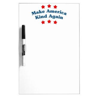 Make America Kind Again Dry Erase Board