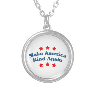 Make America Kind Again Silver Plated Necklace