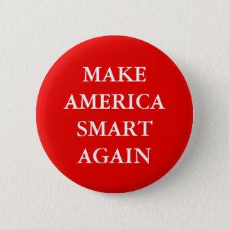 """MAKE AMERICA SMART AGAIN"" PARODY 6 CM ROUND BADGE"