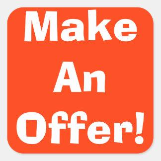 Make An Offer Garage Sale Stickers
