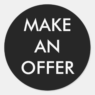 Make an Offer Sticker