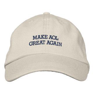 Make AOL Great Again Embroidered Baseball Caps