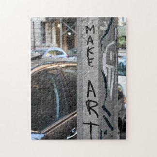 MAKE ART New York Graffiti Street Photography NYC Jigsaw Puzzle