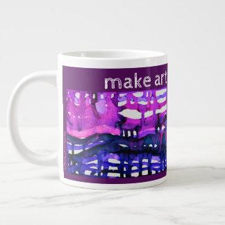 """Make Art Not War"" - Alcohol Ink Art Print Large Coffee Mug"