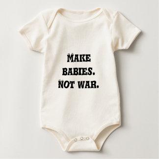Make Babies.  Not War. Rompers