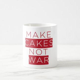 make cakes not war mug
