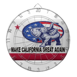 Make California Great Again Dartboard