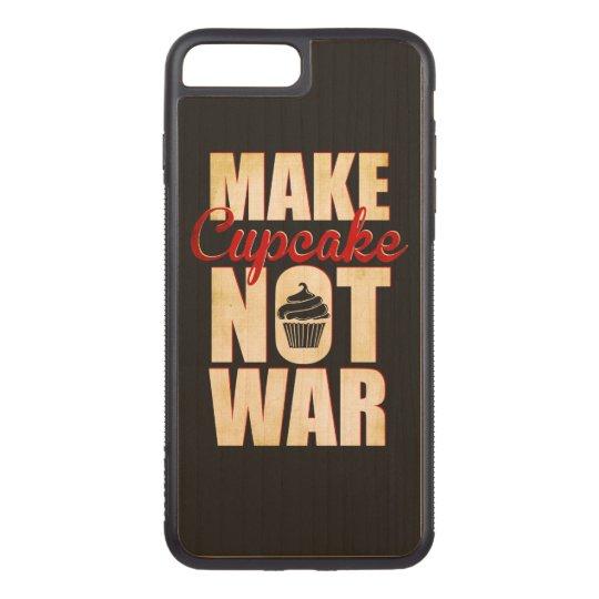 Make cupcake not war carved iPhone 7 plus case