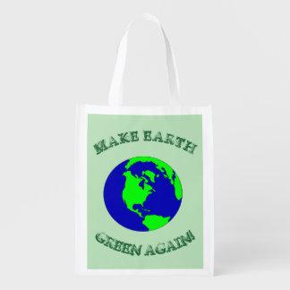 Make Earth Green Again Reusable GROCERY bag