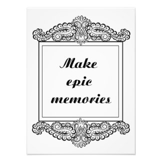 Make epic memories - Positive Quote´s Photo Print
