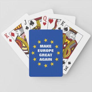 Make Europe Great Again Euro flag deck of Poker Deck