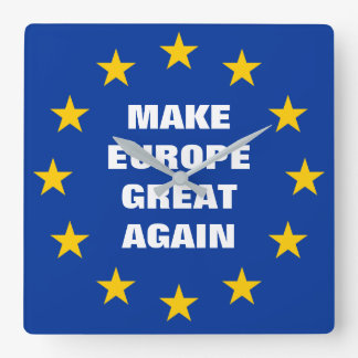 Make Europe Great Again Euro flag wall clock
