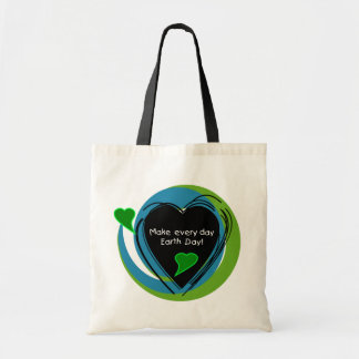 Make Every Day Earth Day Canvas Bags