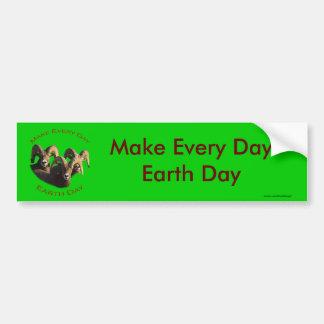 Make Every Day Earth Day Car Bumper Sticker