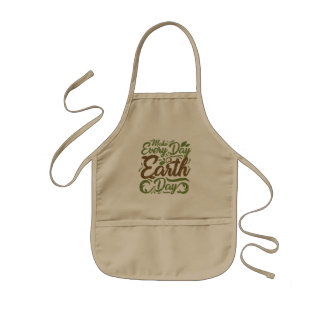 Make Every Day Earth Day - Kids Apron