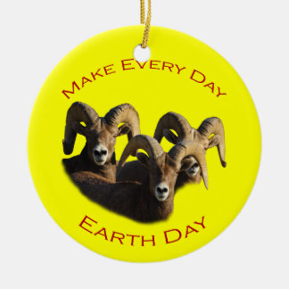 Make Every Day Earth Day Round Ceramic Decoration