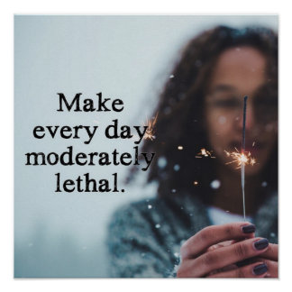 Make every day moderately lethal poster