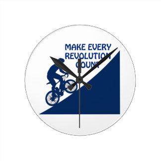 Make every revolution count clock