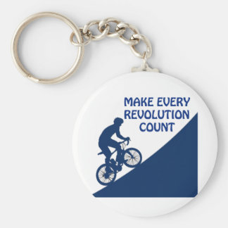 Make every revolution count key ring