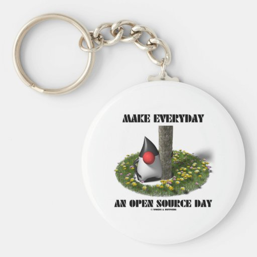 Make Everyday An Open Source Day (Java Duke) Key Chains