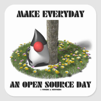 Make Everyday An Open Source Day (Java Duke) Stickers