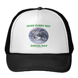 Make Everyday Earth Day (Blue Marble Earth) Mesh Hats