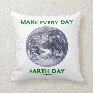 Make Everyday Earth Day (Blue Marble Earth) Throw Cushion